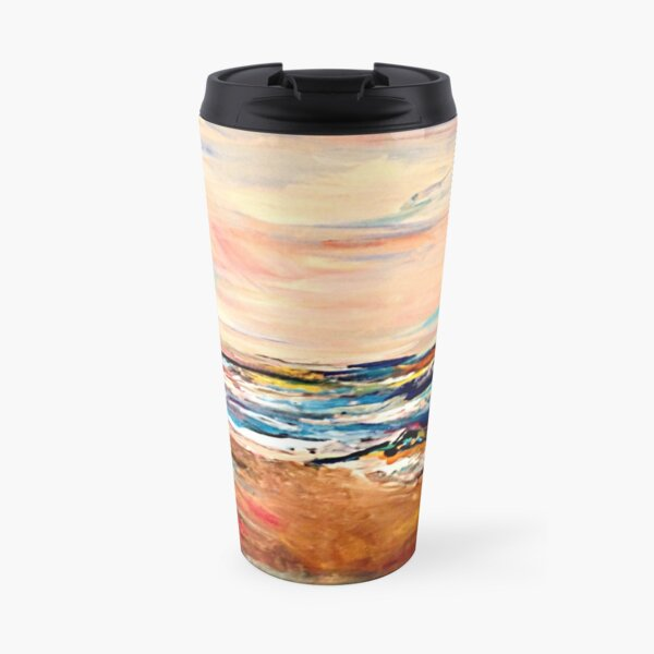 A wave of paint  Travel Mug