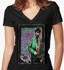 William.S.Burroughs. Women's Fitted V-Neck T-Shirt
