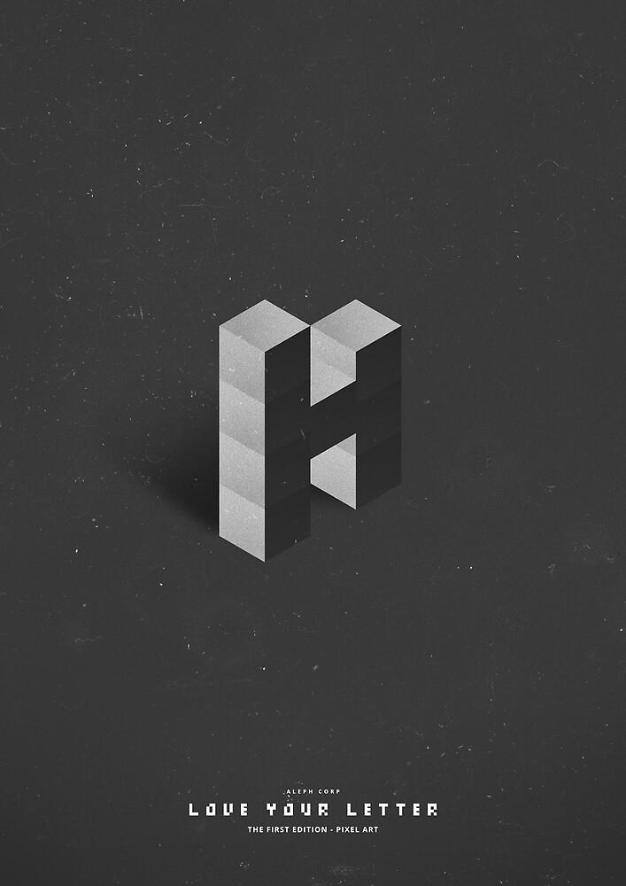 H - Pixel Font by SHIRĀZ & DĀRYĀN