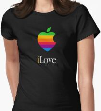 iLove [for dark shirts] Womens Fitted T-Shirt
