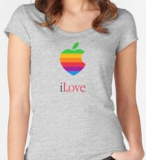 iLove  [for light shirts] Women's Fitted Scoop T-Shirt