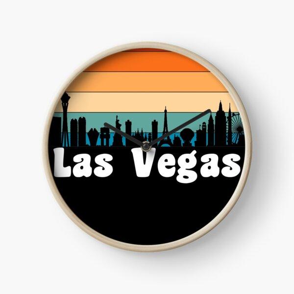 Las Vegas, NV - Skyline des Sonnenuntergangs Uhr