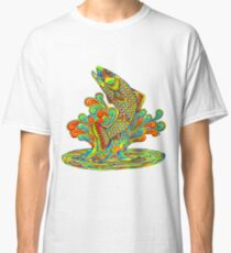 Psychedelic Rainbow Trout Fish Classic T-Shirt