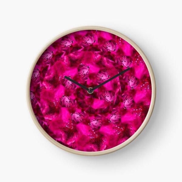 Spiral flowers Clock