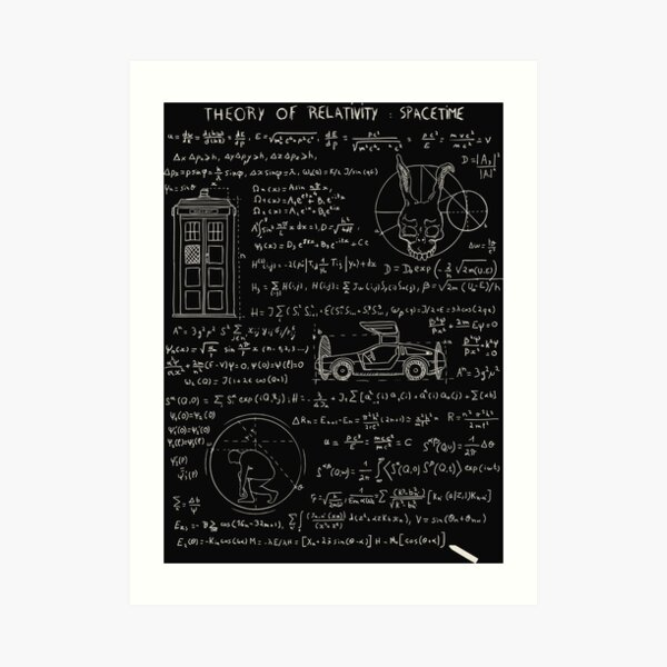 Theory of relativity : spacetime Art Print