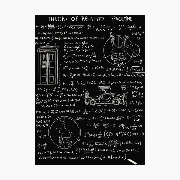 Theory of relativity : spacetime Photographic Print