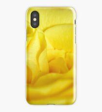 Yellow rose macro iPhone Case/Skin