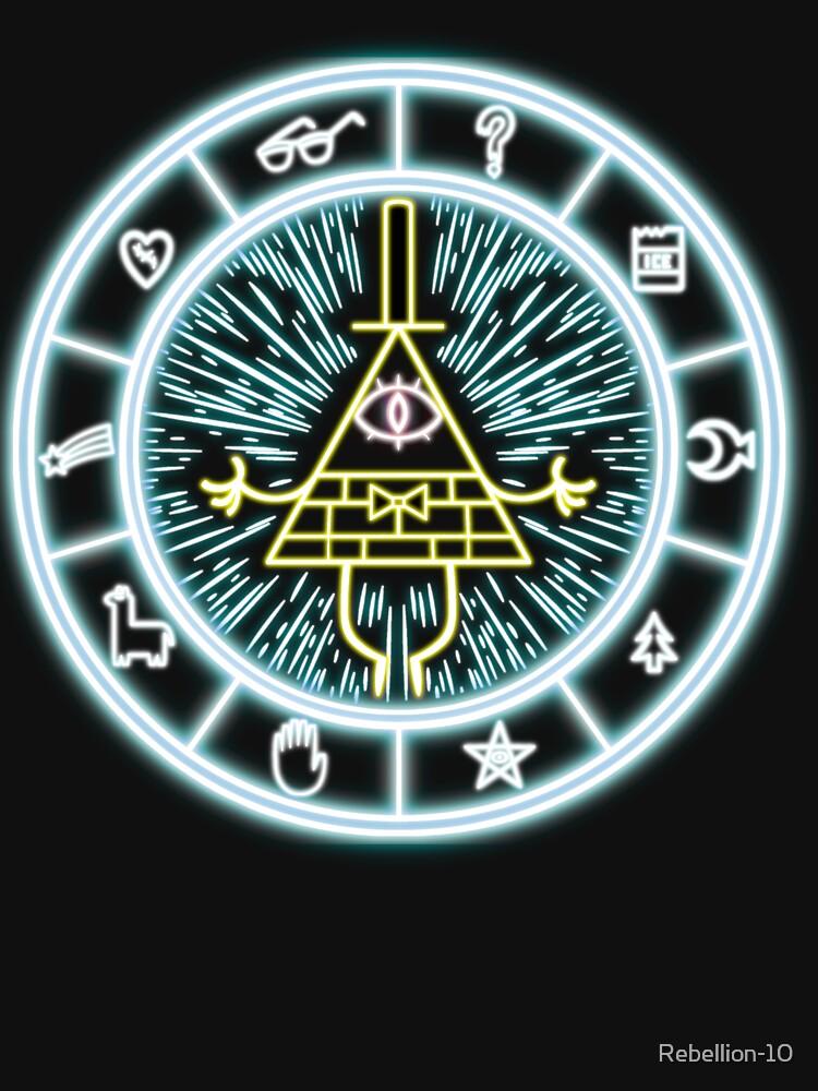 Gravity Falls Bill Cipher Wheel | Unisex T-Shirt