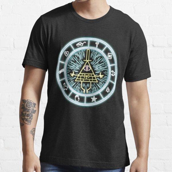 Gravity Falls Bill Cipher Wheel Camiseta esencial