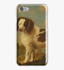 George Stubbs - Brown and White Norfolk or Water Spaniel 1778 iPhone Case/Skin