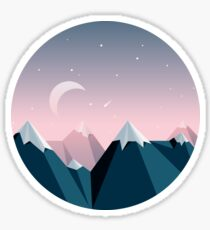 Mountain Peaks Sticker