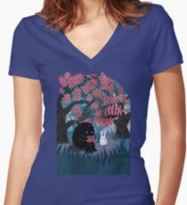 Another Quiet Spot Women's Fitted V-Neck T-Shirt