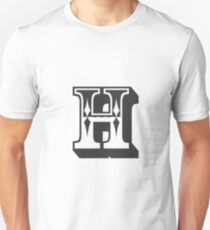 H Initial, Letter, Alphabet Unisex T-Shirt