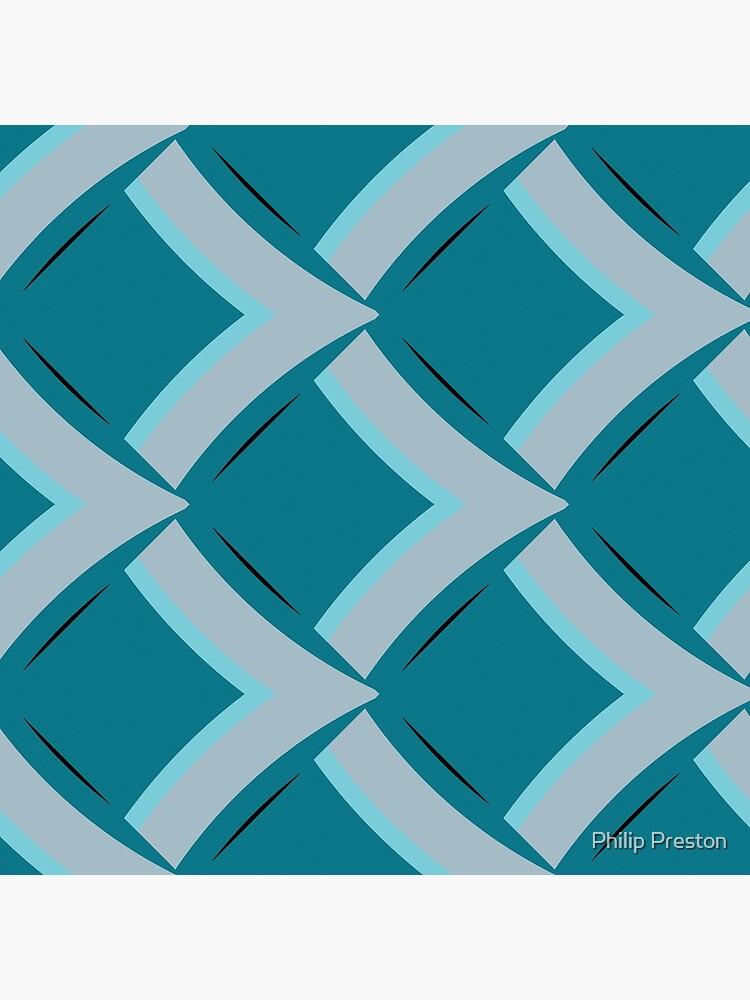 Modern Abstract Geometric Pattern Blue Grey Design 1119 by prestonphoto