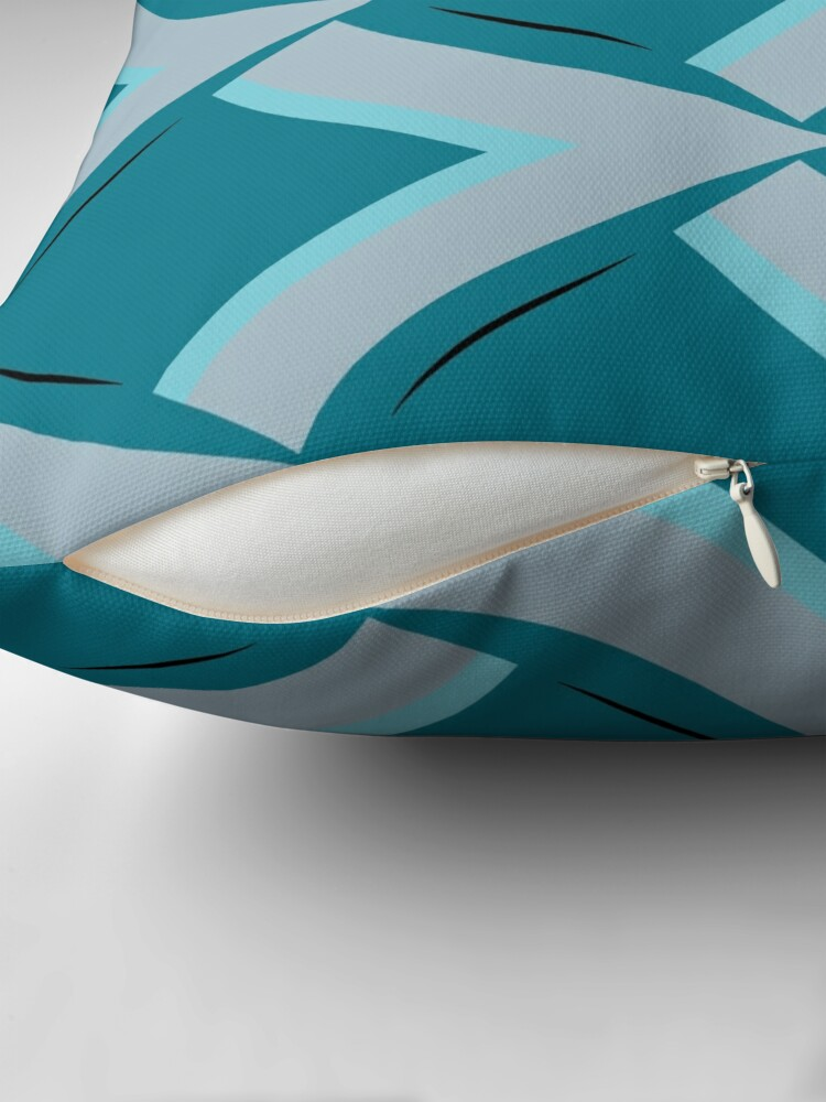 Alternate view of Modern Abstract Geometric Pattern Blue Grey Design 1119 Floor Pillow