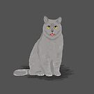 Funny grey meme cat cute cat lady gifts for cat owner pet portraits custom pet gifts by PetFriendly