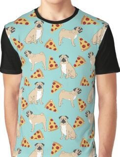 Pizza Pugs cute pet portraits funny puggle puppy dog pizza junk food dog gift trendy hipsters Graphic T-Shirt