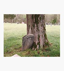 """'""""THE CEMETERY, a Series', No. 5, Stone and Wood""""... prints and products Photographic Print"""