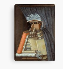 Giuseppe Arcimboldo - The Librarian 1562  Canvas Print