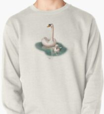 Beautiful Swan and Baby Pullover
