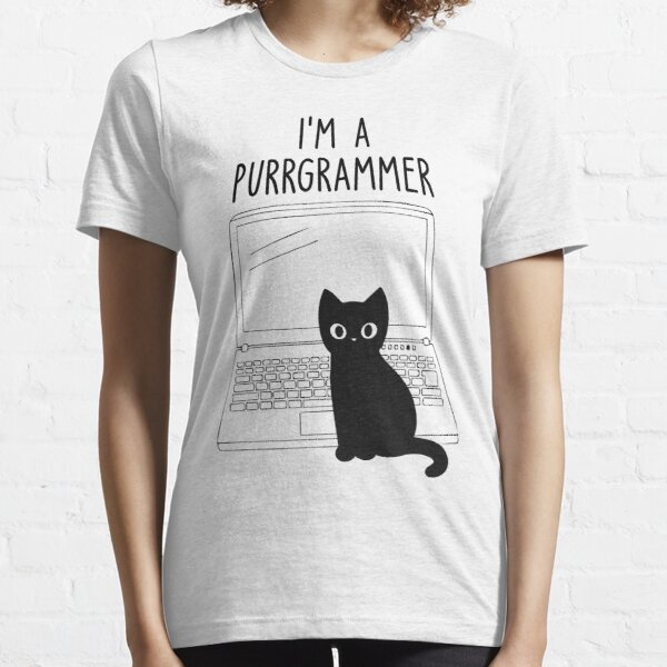 I'm a purrgrammer - Funny programming jokes Essential T-Shirt