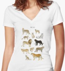 Wild Cats Women's Fitted V-Neck T-Shirt