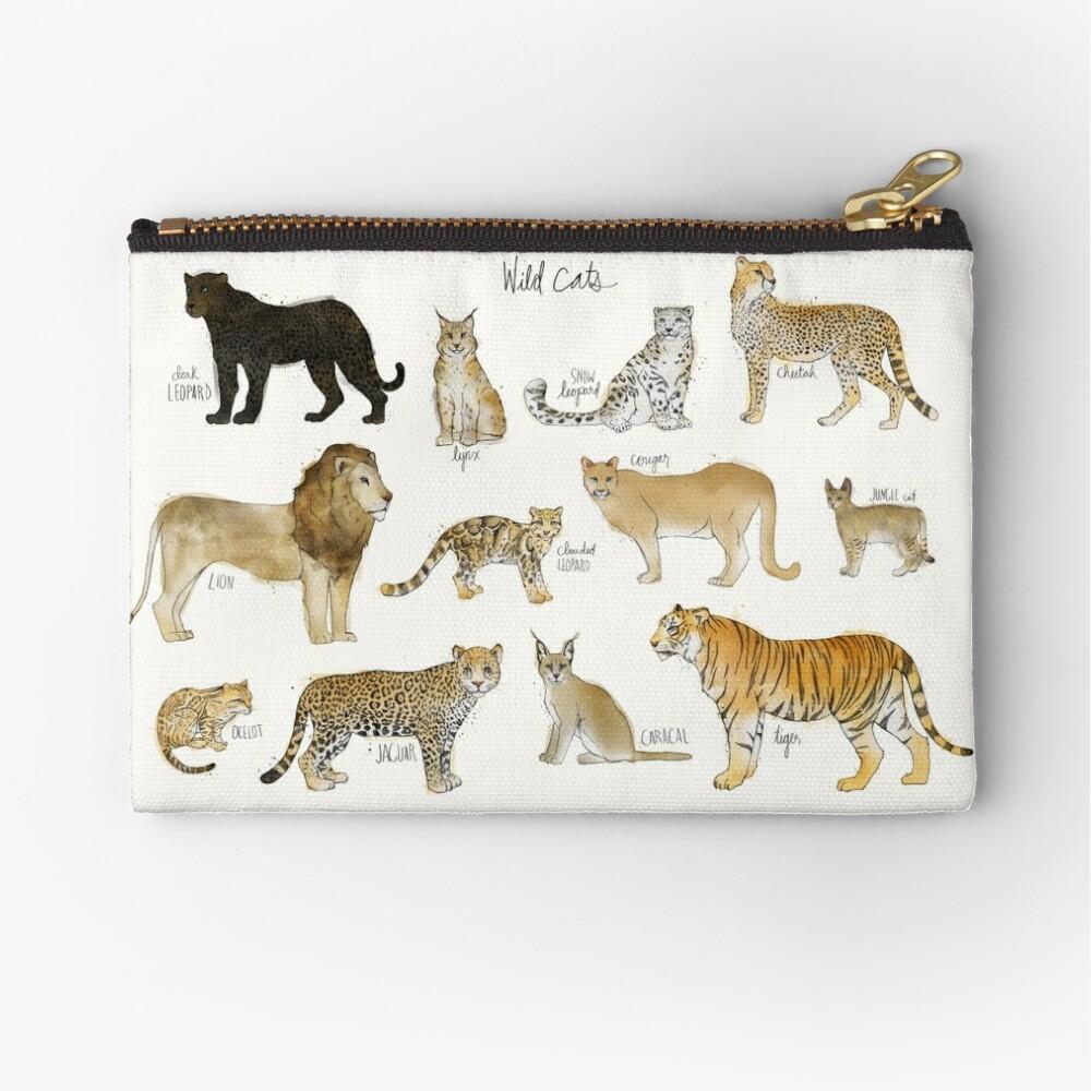 Wild Cats Zipper Pouch