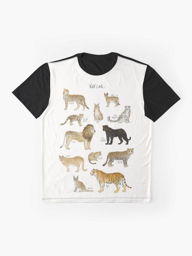 Alternative Ansicht von Wilde Katzen Grafik T-Shirt