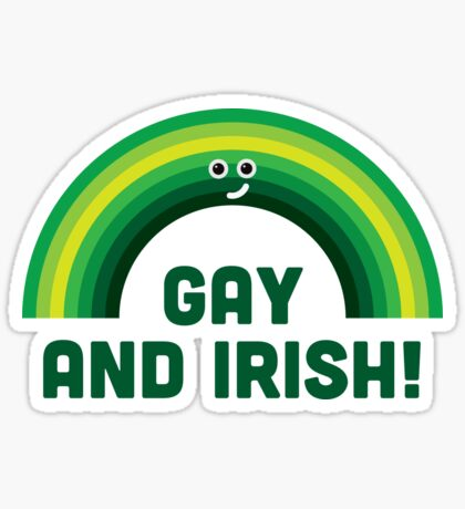 Character Building - Irish and Gay Sticker