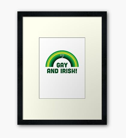 Character Building - Irish and Gay Framed Print