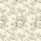 The Night Gardener - Endpapers, color option by Eric Fan
