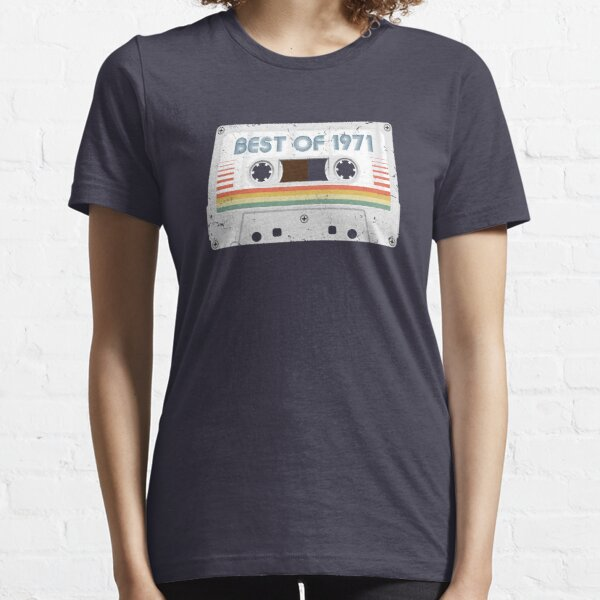 50th Birthday Best of 1971 Cassette Tape Vintage for Gift Essential T-Shirt