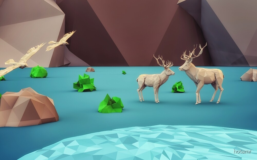 beautiful life - 3D low Polygon art by hotamr