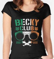 Becky Club Women's Fitted Scoop T-Shirt