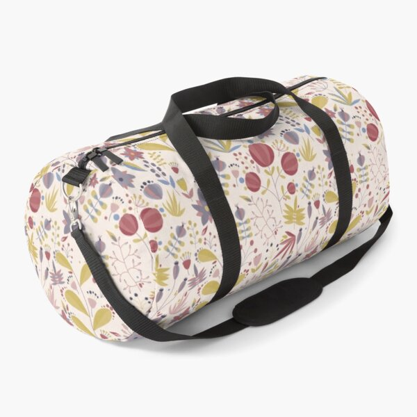 Garden Flowers and Leaves Duffle Bag