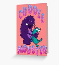 Cuddle Monster Greeting Card