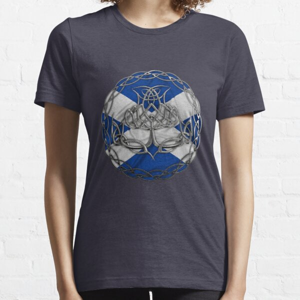 Chrome Celtic Knot Thistle Essential T-Shirt
