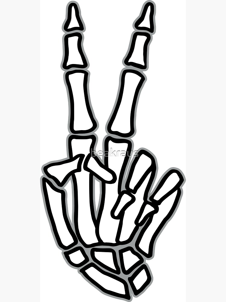 Peace skeleton hand sign by beakraus