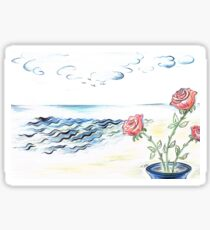 Scented Roses in the Sea Breeze  Sticker