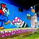 Graffiti under the bridge (Mario Bros). by ALEJANDRA TRIANA MUÑOZ