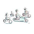 Family Bike Ride by Joel Tarling