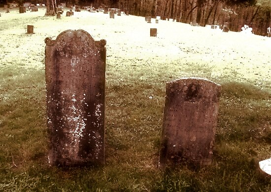 """'""""THE CEMETERY, a Series', No. 9, Together Forever""""... prints and products by Bob Hall©"""