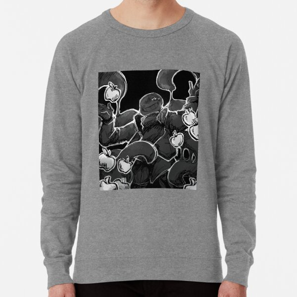 Nightmare sans greyscale artwork  Lightweight Sweatshirt
