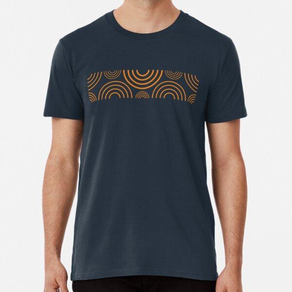 Orange Repeating Circular Design Premium T-Shirt