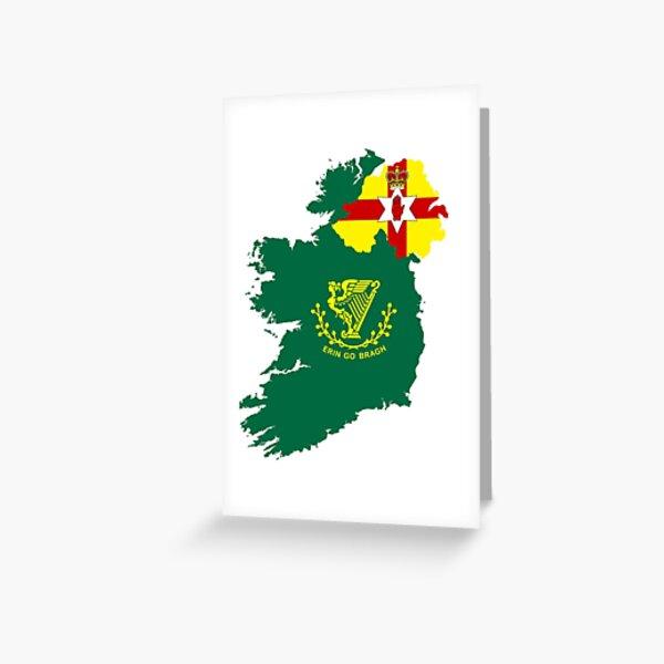 Divided Ireland Greeting Card