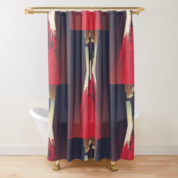 murder mystery artwork Shower Curtain