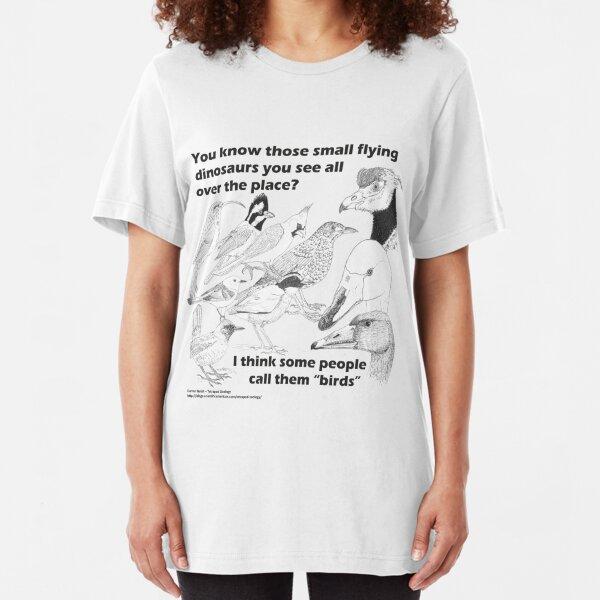 Funny t-shirt Darwin Theory retro Dinosaur birds comic Evolution Sucks t shirt