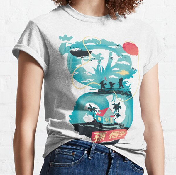 Paisaje del dragón Camiseta clásica