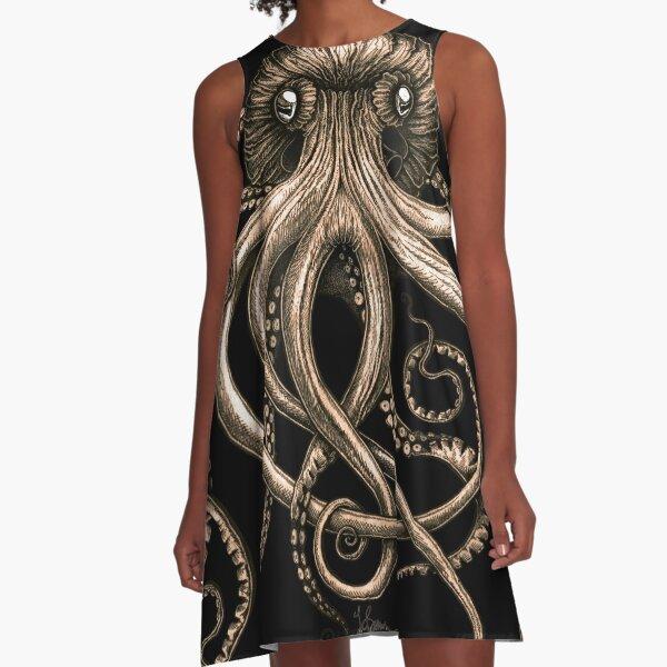 Bronze Kraken A-Line Dress