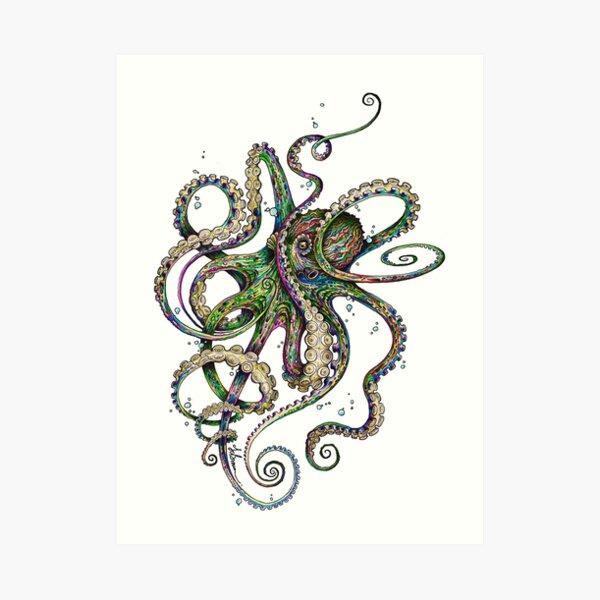 Octopsychedelia Art Print